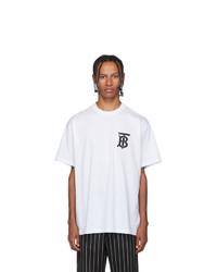 weißes T-Shirt mit einem Rundhalsausschnitt von Burberry