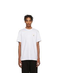 weißes T-Shirt mit einem Rundhalsausschnitt von CARHARTT WORK IN PROGRESS