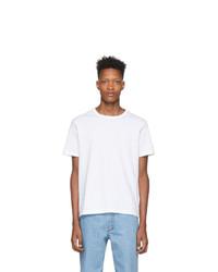 weißes T-Shirt mit einem Rundhalsausschnitt von Champion Reverse Weave