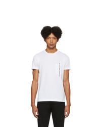 weißes T-Shirt mit einem Rundhalsausschnitt von Diesel