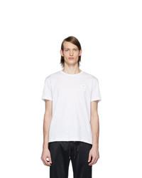 weißes T-Shirt mit einem Rundhalsausschnitt von Dolce and Gabbana