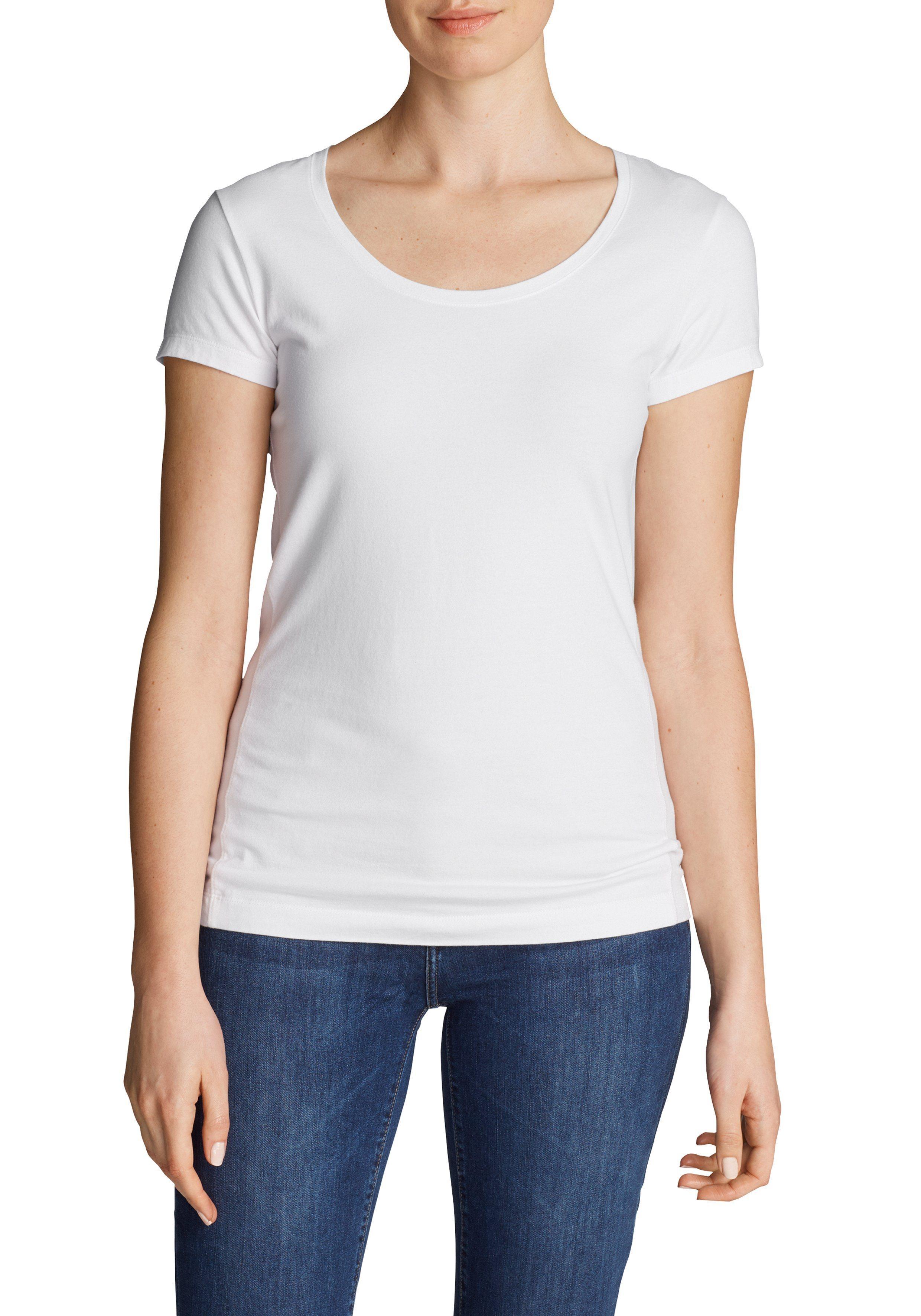huge selection of abc23 0b8bd €34, weißes T-Shirt mit einem Rundhalsausschnitt von Eddie Bauer
