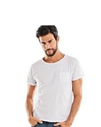 weißes T-Shirt mit einem Rundhalsausschnitt von EMILIO ADANI