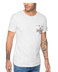 weißes T-Shirt mit einem Rundhalsausschnitt von Esprit