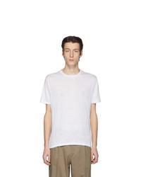 weißes T-Shirt mit einem Rundhalsausschnitt von Etro