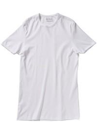 weißes T-Shirt mit einem Rundhalsausschnitt von Garage