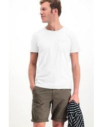 weißes T-Shirt mit einem Rundhalsausschnitt von GARCIA