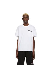 weißes T-Shirt mit einem Rundhalsausschnitt von Givenchy