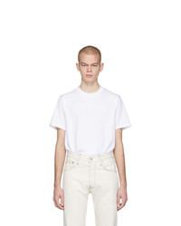 weißes T-Shirt mit einem Rundhalsausschnitt von Helmut Lang