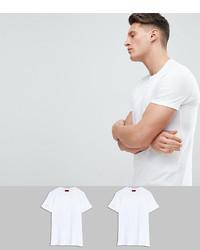 weißes T-Shirt mit einem Rundhalsausschnitt von Hugo