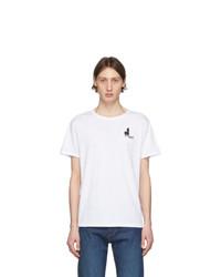 weißes T-Shirt mit einem Rundhalsausschnitt von Isabel Marant
