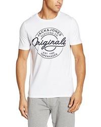 weißes T-Shirt mit einem Rundhalsausschnitt von Jack & Jones