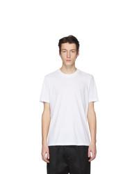 weißes T-Shirt mit einem Rundhalsausschnitt von Jil Sander