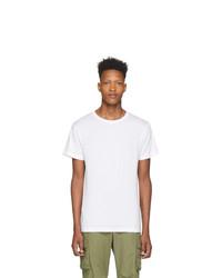 weißes T-Shirt mit einem Rundhalsausschnitt von John Elliott
