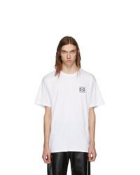 weißes T-Shirt mit einem Rundhalsausschnitt von Loewe