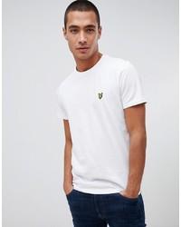 weißes T-Shirt mit einem Rundhalsausschnitt von Lyle & Scott