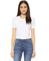 weißes T-Shirt mit einem Rundhalsausschnitt von Madewell