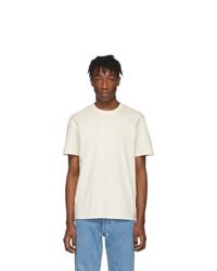 weißes T-Shirt mit einem Rundhalsausschnitt von Maison Margiela