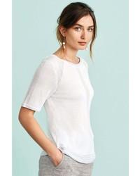 weißes T-Shirt mit einem Rundhalsausschnitt von NEXT