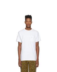 weißes T-Shirt mit einem Rundhalsausschnitt von Noah NYC