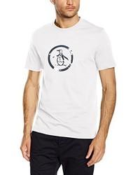 weißes T-Shirt mit einem Rundhalsausschnitt von Original Penguin
