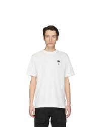 weißes T-Shirt mit einem Rundhalsausschnitt von Palm Angels