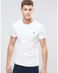 weißes T-Shirt mit einem Rundhalsausschnitt von Polo Ralph Lauren
