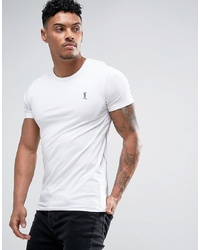 weißes T-Shirt mit einem Rundhalsausschnitt von Religion