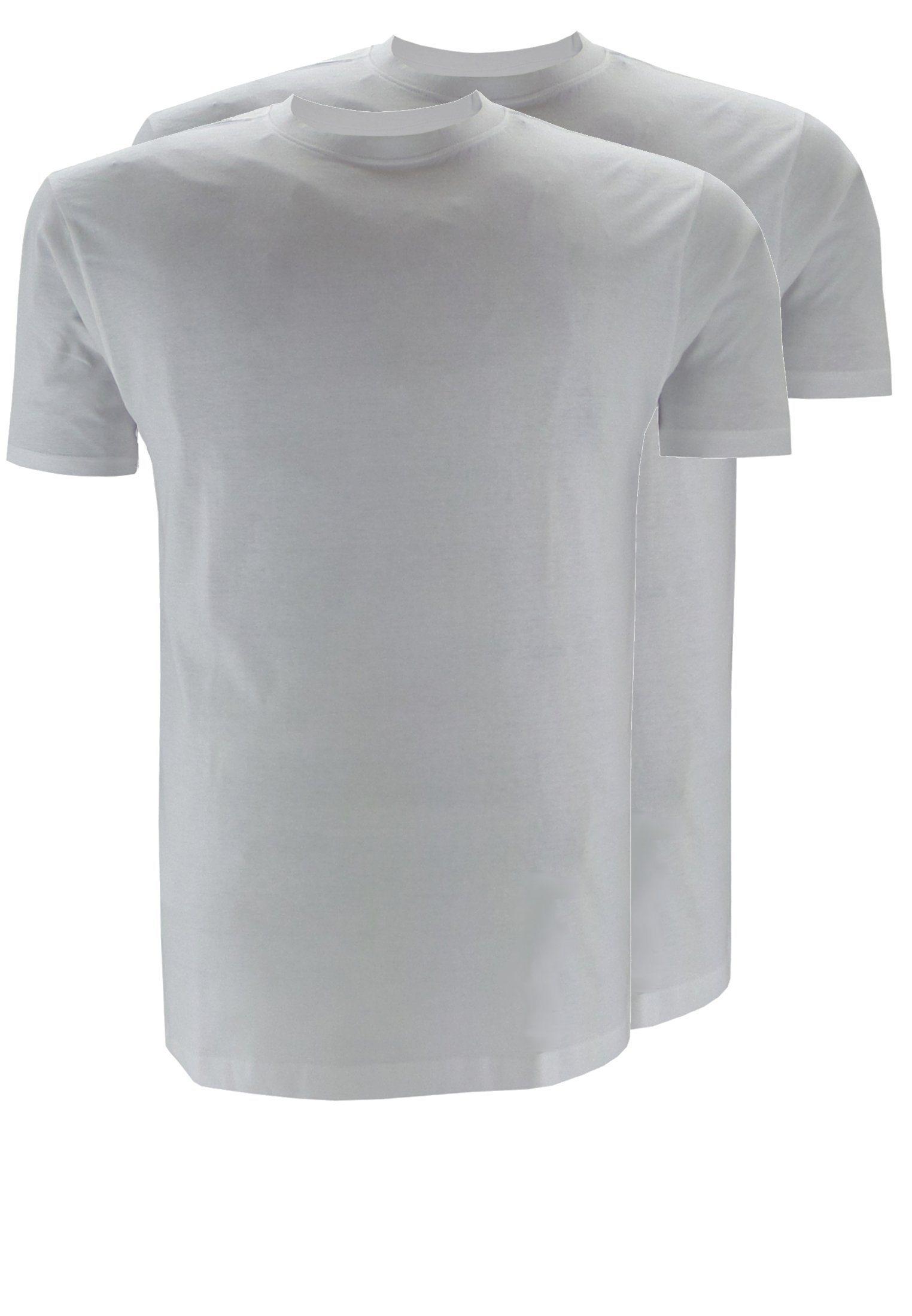 weißes T-Shirt mit einem Rundhalsausschnitt von replika