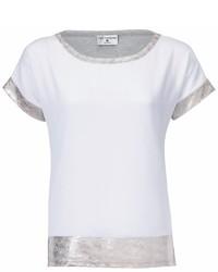 weißes T-Shirt mit einem Rundhalsausschnitt von RICK CARDONA by Heine