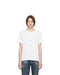 weißes T-Shirt mit einem Rundhalsausschnitt von Saint Laurent