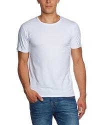 weißes T-Shirt mit einem Rundhalsausschnitt von Selected Homme