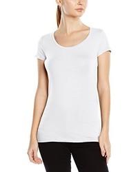 weißes T-Shirt mit einem Rundhalsausschnitt von Stedman Apparel