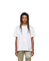 weißes T-Shirt mit einem Rundhalsausschnitt von Thom Browne
