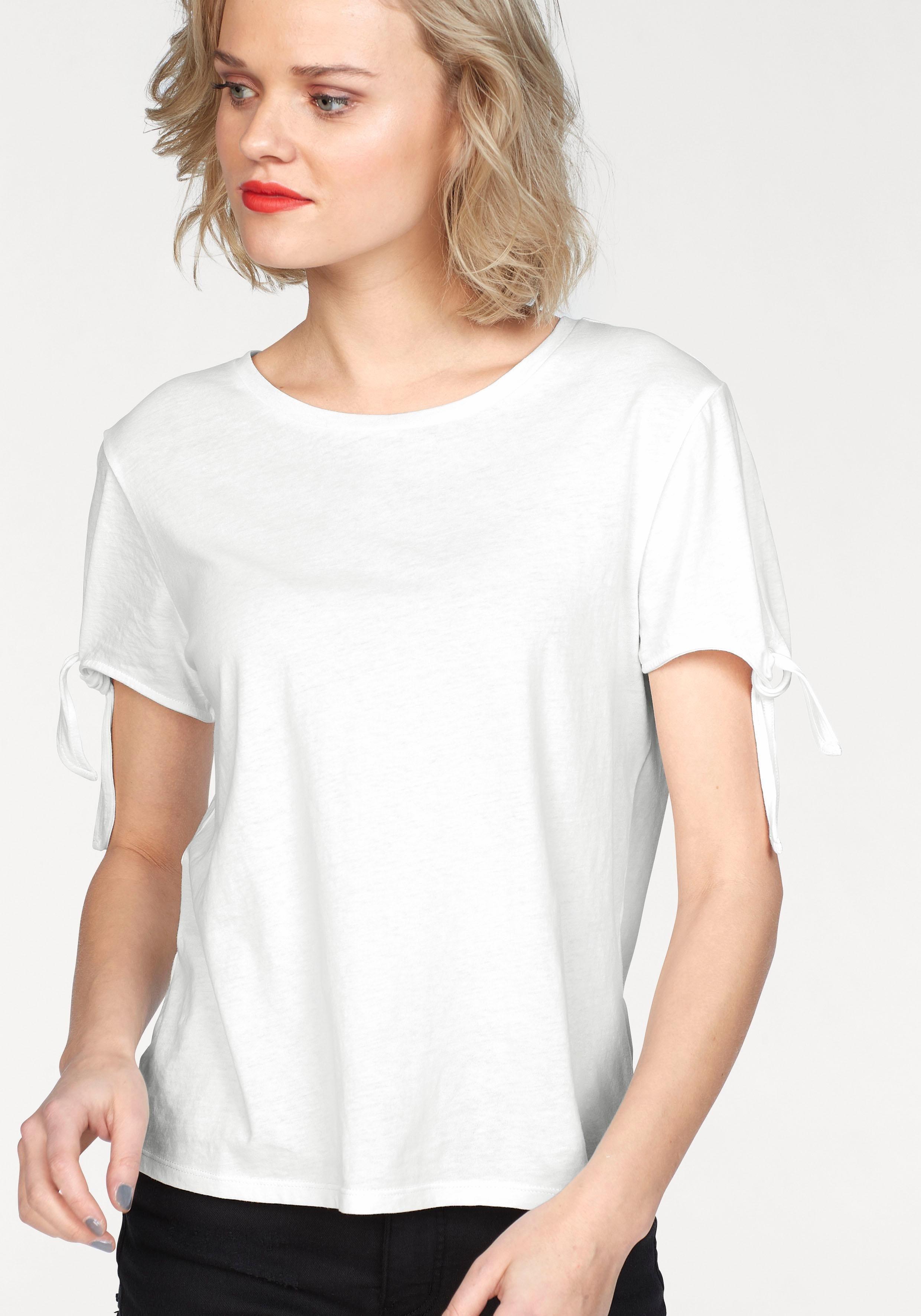 weißes T-Shirt mit einem Rundhalsausschnitt von Tom Tailor Denim