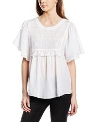 weißes T-Shirt mit einem Rundhalsausschnitt von Vero Moda