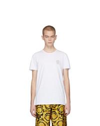 weißes T-Shirt mit einem Rundhalsausschnitt von Versace Underwear