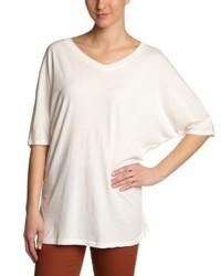 weißes T-Shirt mit einem V-Ausschnitt von Bobi
