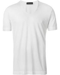 weißes T-Shirt mit einem V-Ausschnitt von Diesel Black Gold