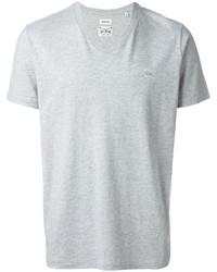weißes T-Shirt mit einem V-Ausschnitt von Diesel