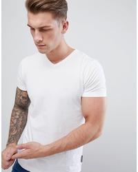 weißes T-Shirt mit einem V-Ausschnitt von French Connection