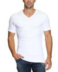 weißes T-Shirt mit einem V-Ausschnitt von Garage