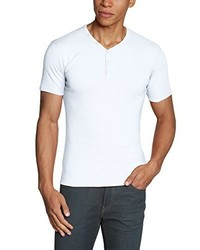 weißes T-Shirt mit einem V-Ausschnitt von GARCIA