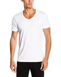 weißes T-Shirt mit einem V-Ausschnitt von Jack & Jones