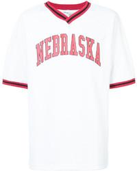 weißes T-Shirt mit einem V-Ausschnitt von Off-White