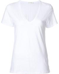 weißes T-Shirt mit einem V-Ausschnitt von Rag & Bone