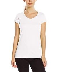 weißes T-Shirt mit einem V-Ausschnitt von Stedman Apparel