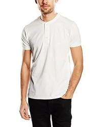 weißes T-shirt mit einer Knopfleiste von Lee