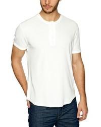 weißes T-shirt mit einer Knopfleiste von Levi's