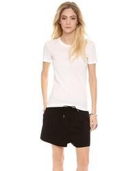 weißes T-Shirt mit einem Rundhalsausschnitt von Acne Studios